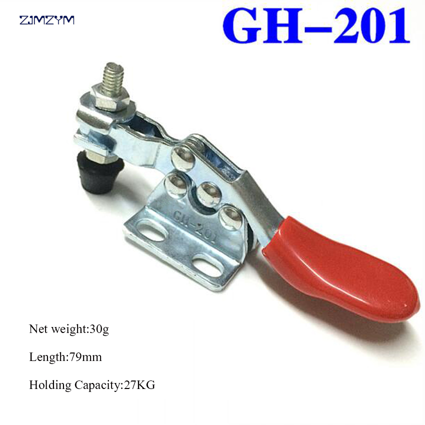 Holding Capacity 27kg Quick Release Toggle Clamp GH-201 Horizontal Hand Tool For Fixing Workpiece