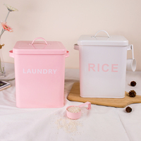 Rice Jar flour Bucket Square Barrel Snack Barrel with Sealing Ring Candy Cookie Jar Cereal Dispenser