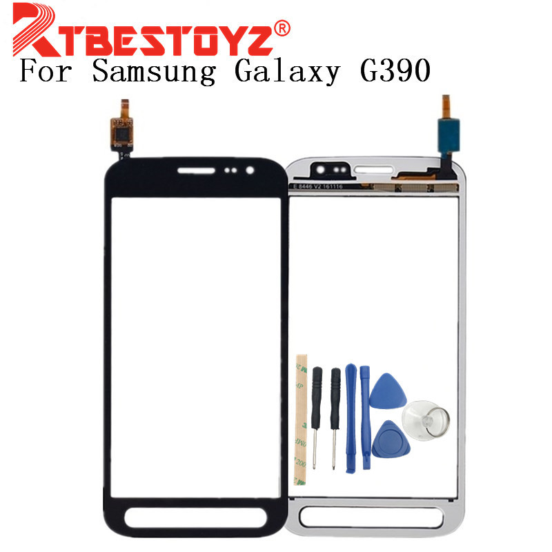RTBESTOYZ 4.8'' For Samsung Galaxy Xcover 4 SM G390F G390 Digitizer Touch Screen Panel Sensor Lens Glass With + Tools|Mobile Phone Touch Panel| |  - title=