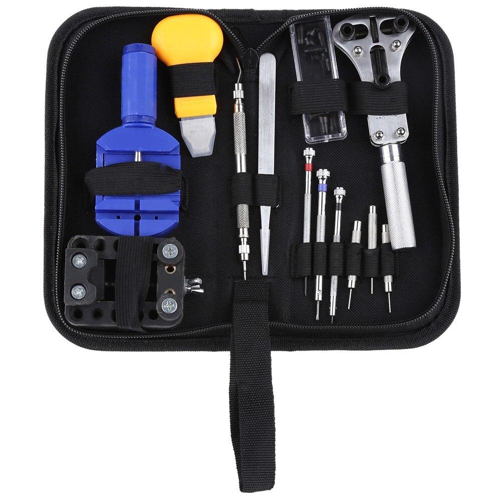 Prix pour 13 PCS Portable Montre-Bracelet Repair Tool Set Pin Remover Ouvreur de Cas Pince Outils De Réparation Kit