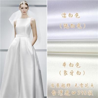 Taiwan imported high grade satin wedding dress material manual DIY ...