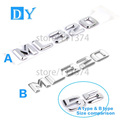 Auto parts High Grade 3D ABS Material ML320 Letter Car Refitting Rear Trunk Emblem Decal Badge Number Sticker For Benz ML320