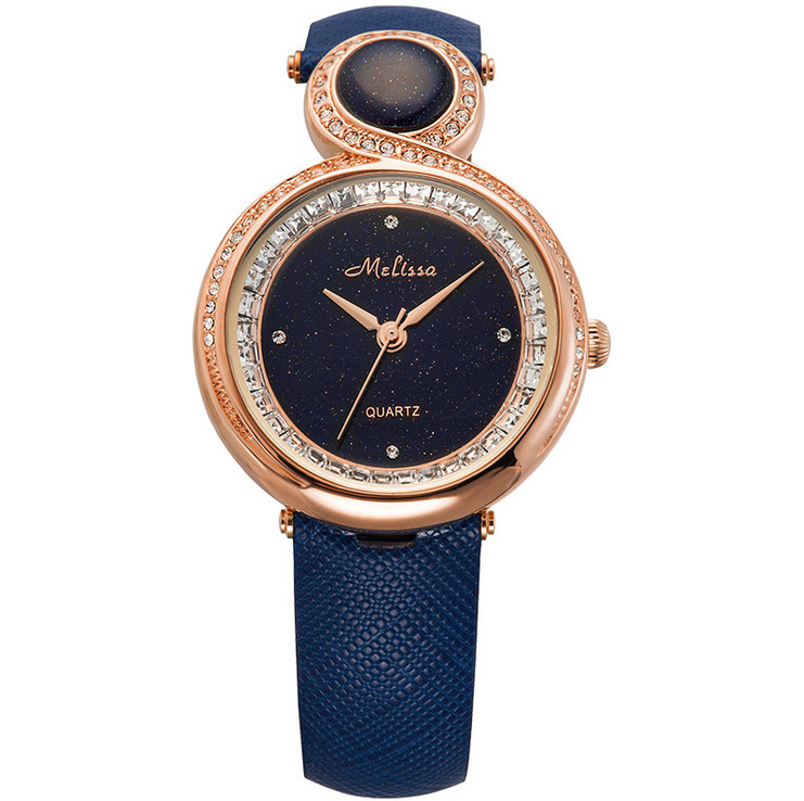d4546190b99 MELISSA Marca de luxo Novo E Elegante Relógio Do Vintage Senhora Elegante  Cristais Vestido de relógio de Pulso de Quartzo Relogio feminino Montre  F12202 ...