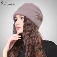 Sedancasesa New Lady Cloche Hat With 100 Australian Wool Autumn Winter Keep Warm Hats For Women
