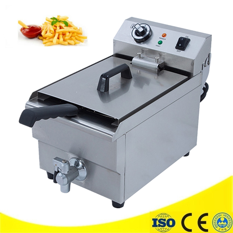 220V 10L Electric Small Home Household Healthy Fish Chicken Potato French Fries Deep Oil Fat Fryer Machine home healthy non stick electric deep fryer smokeless electric air fryer french fries machine for home using af 100 1pc