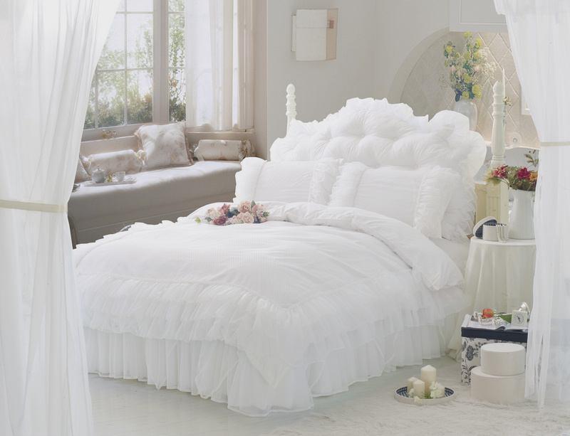 Luxury White Bedding King