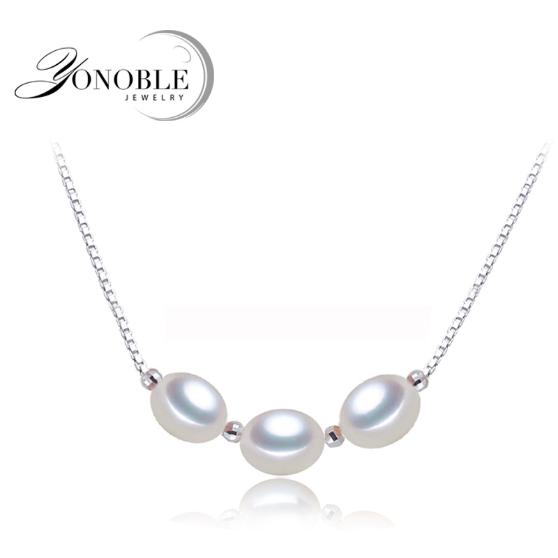 YOUNOBLE natural pearl beads pendant,wedding silver pendant necklace 925 sterling jewelry girl best friends gift