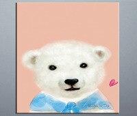 Poster leuke dieren moderne stijl canvas verf door nummer kit Groothandel en retail afbeelding Cartoon Beer