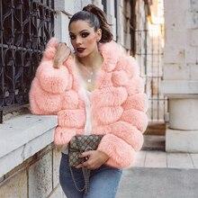 UPPIN шуба пальто из искусственного меха куртка с капюшоном женский розовый плюс размер модные зимние куртки из лисьего меха женские s топы для девочек новые пальто с капюшоном дубленка женская шуба женская шуба