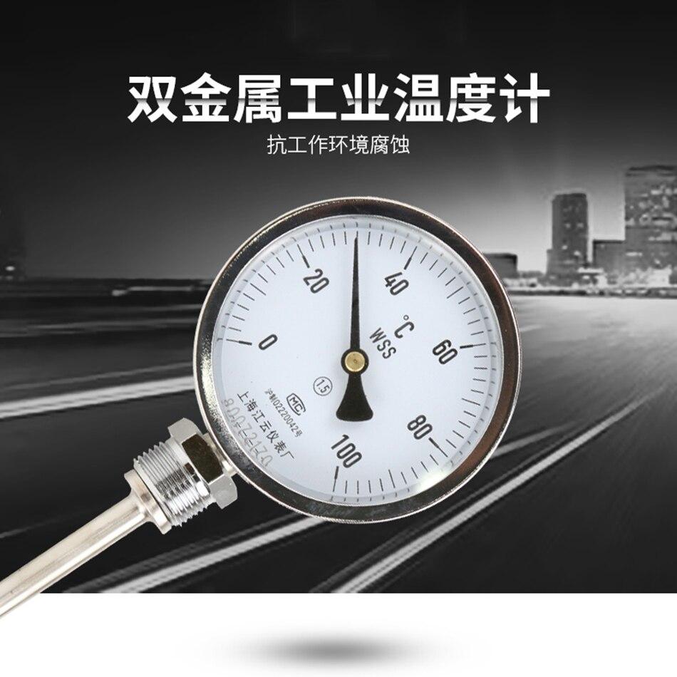 WSS-411 0-100 degrés longueur 20 cm bimétallique en acier inoxydable disque industriel chaudière Profession Anti-corrosion