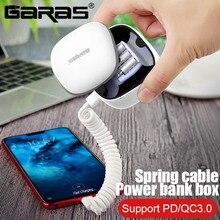 GARAS Power Bank PD/QC3.0 for iPhone/Micro USB/USB C mini Po