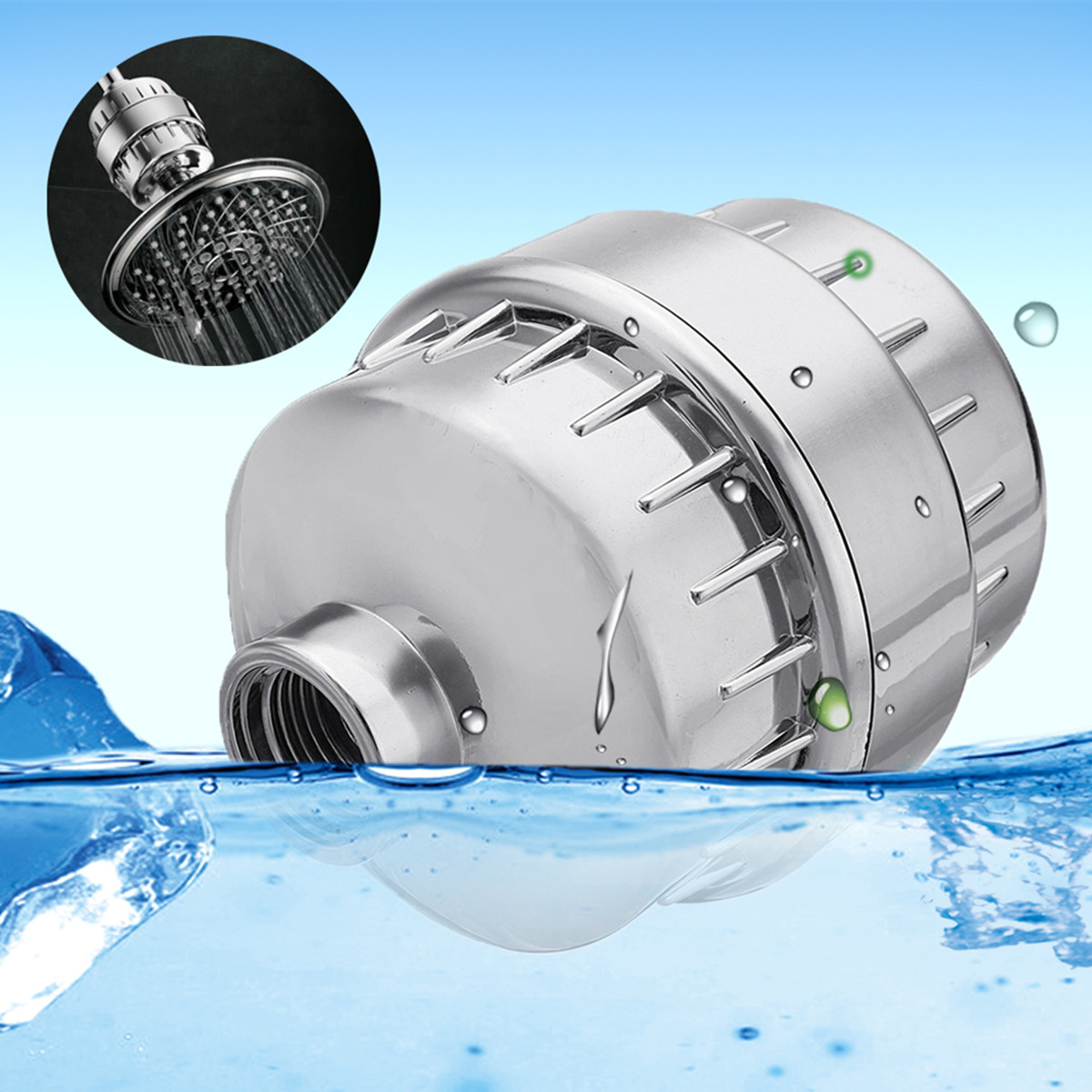 Bathroom Shower Filter Chlorine Removal Heavy Metal Remove Chlorine Water Filter Purifier For Health Bathing in line bathroom shower filter bathing water filter purifier water treatment health softener chlorine removal for kitchen home