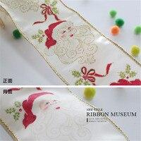 Christmas Ribbon Santa Claus Onion Ribbon 62MM X 1Yard Made In Taiwan Ribbon Festival Decoration Ribbon