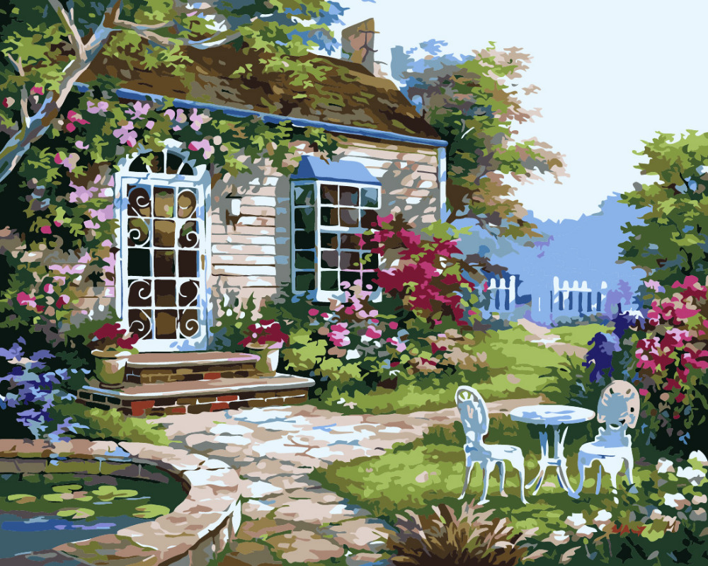 Flower Garden Drawing compare prices on flower garden drawings- online shopping/buy low