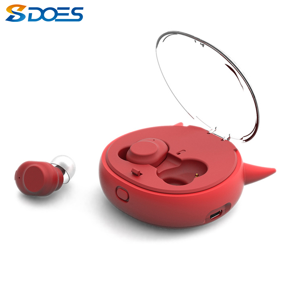 HAT TWS Ohrhörer Drahtlose Bluetooth Kopfhörer Dämon Serie Mit Lade Fall Mic Mini Sport Kopfhörer Stereo Headset-in Handy-Ohrhörer und Kopfhörer Bluetooth aus Verbraucherelektronik bei  Gruppe 1