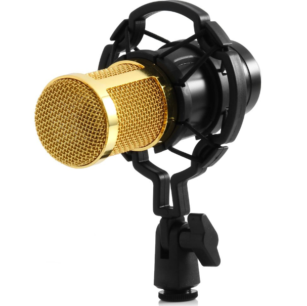 High Quality Professional Condenser usb Sound Recording mic bm 800 3.5 mm jack Microphone + Shock Mount for computer
