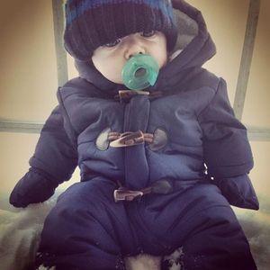 Image 5 - Lrcoml לשמור עבה חם תינוקות תינוק rompers חורף בגדי יילוד תינוק ילד הילדה Romper סרבל ברדס ילד הלבשה עליונה עבור 0 24M