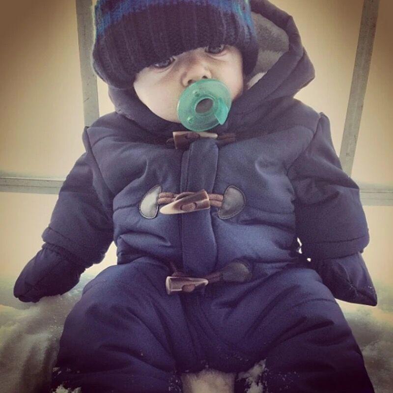 Lrcoml Keep Thick Warm Infant Baby Rompecabezas Ropa de invierno - Ropa de bebé - foto 6