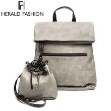 Herald модная школьная сумка набор молодежи Рюкзаки для подростков Обувь для девочек Женский Композитный сумка Повседневное рюкзак дорожная Тетрадь сумка для ноутбука