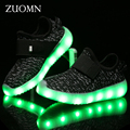 Kids Shoes Rodinha Boys LED Shoes Kids Light Up Shoes for Children Boys Glowing Sneakers Led USB Charge zapatillas led GH393
