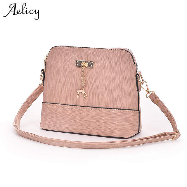 Aelicy 2018 Latest Women Leather Shoulder Bag Fashion Lady Handbag Casual Messenger  Crossbody Top-handle Bags Bolsa feminina 97e9b1647a29c