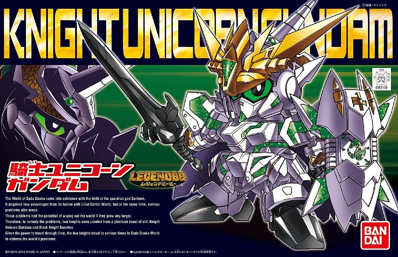 Bandai Gundam leyenda BB KNIGHT unicornio GUNDAM traje móvil ensamblar Kits de modelos figuras de acción juguetes para niñosFiguras de juguete y acción   -