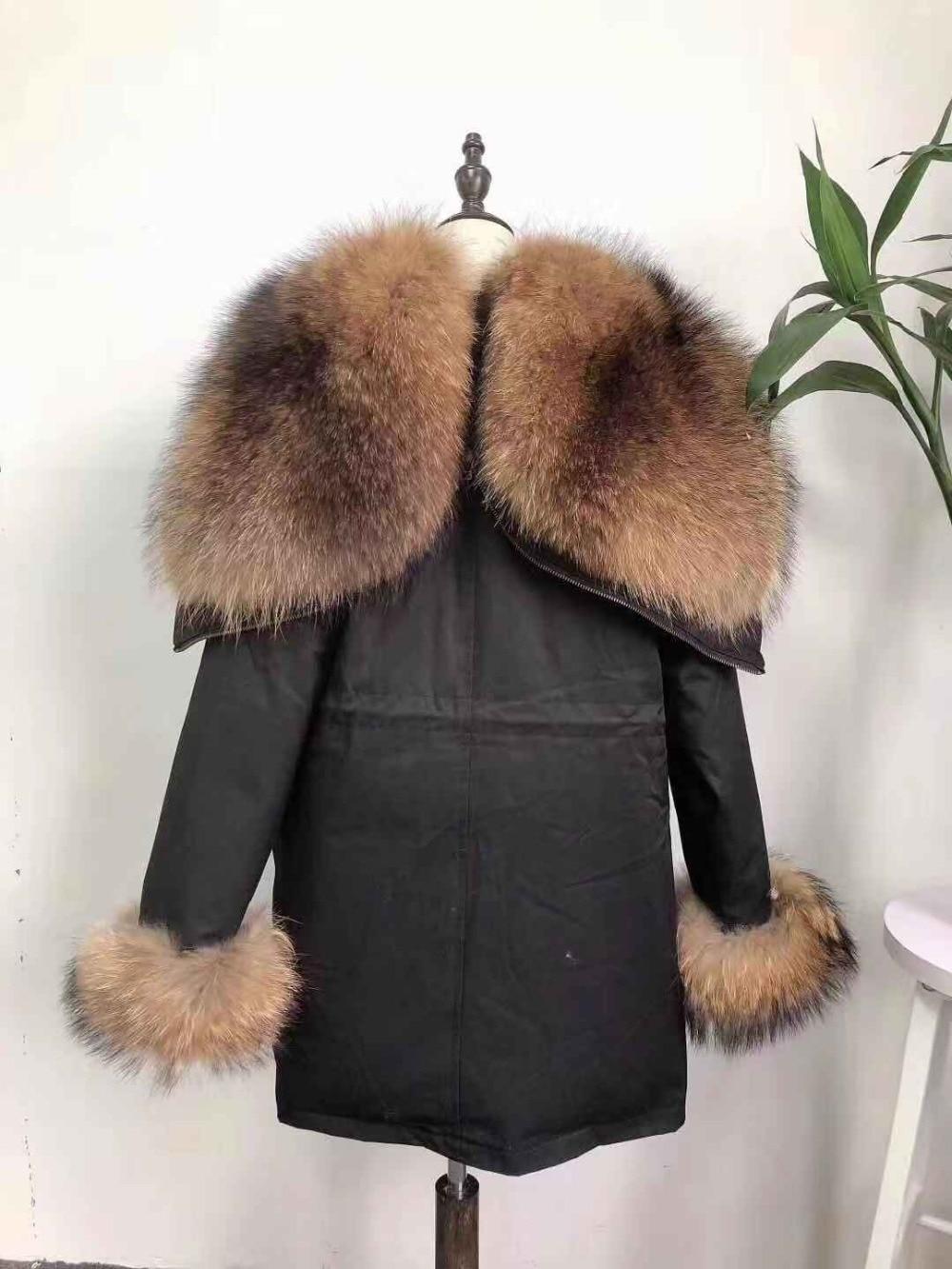 Parka D'hiver Fox À Capuchon Fourrure Collar Fur Real Veste Fur Raccoon Laveur Raton De Vers Le Bas Surdimensionné Réel Naturel Col Manteau Survêtement real 6r65Tqxw