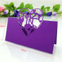 HOT 50pc/Lot Love Rose Angel Seat Card