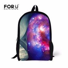 14b8f272be9bc0 FORUDESIGNS Galaxy Stampa Bambini Sacchetto di Scuola, Casual Personalizzato  Schoolbag per Ragazzi Ragazze, Fresco Sacchetti di .