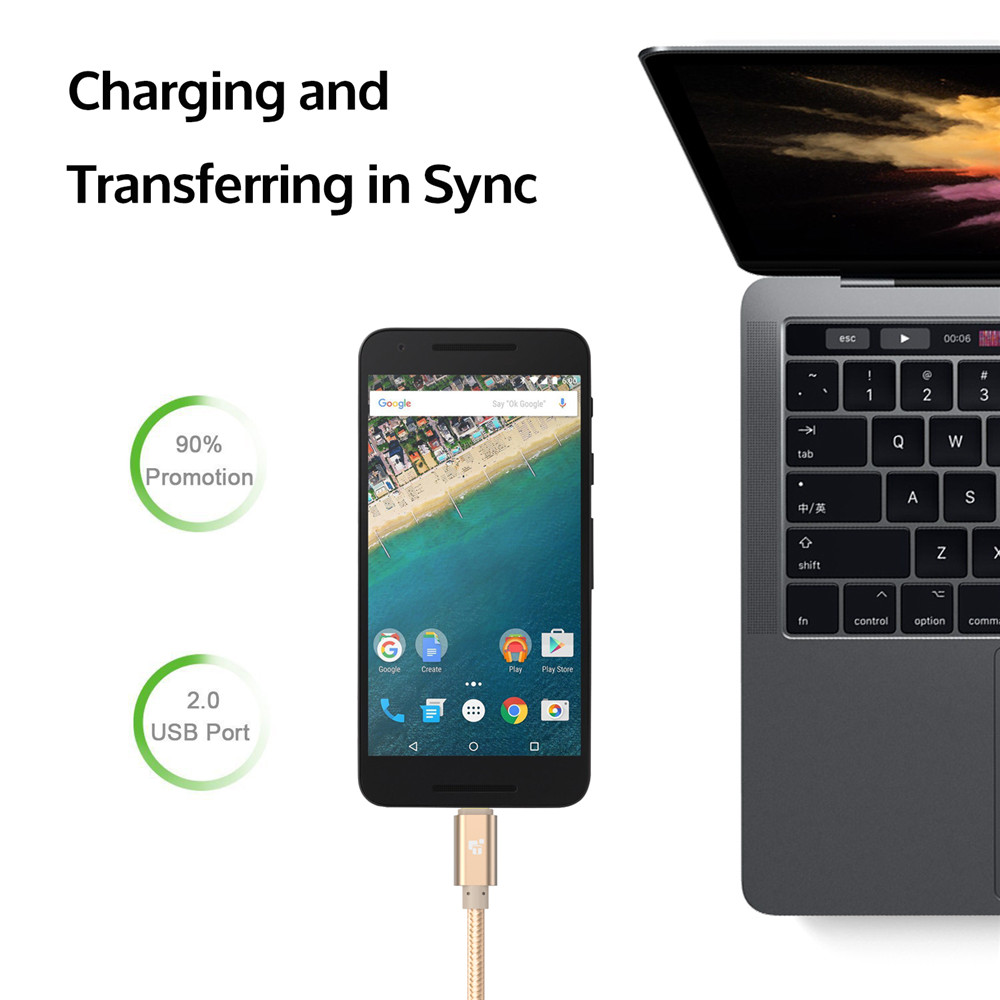 TIEGEM Καλώδιο USB τύπου C USB C 3.1 Καλώδιο - Ανταλλακτικά και αξεσουάρ κινητών τηλεφώνων - Φωτογραφία 4