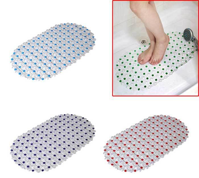 High Quality Home Supplies Waterproof Bathroom Cobblestone PVC Antislip Mat  Bath Mat Suction Cup Massage MatWholesale ...