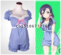 LOVE LIVE! Women Summer Sleepwear Anime LoveLive! Nozomi Tojo Cosplay Costume
