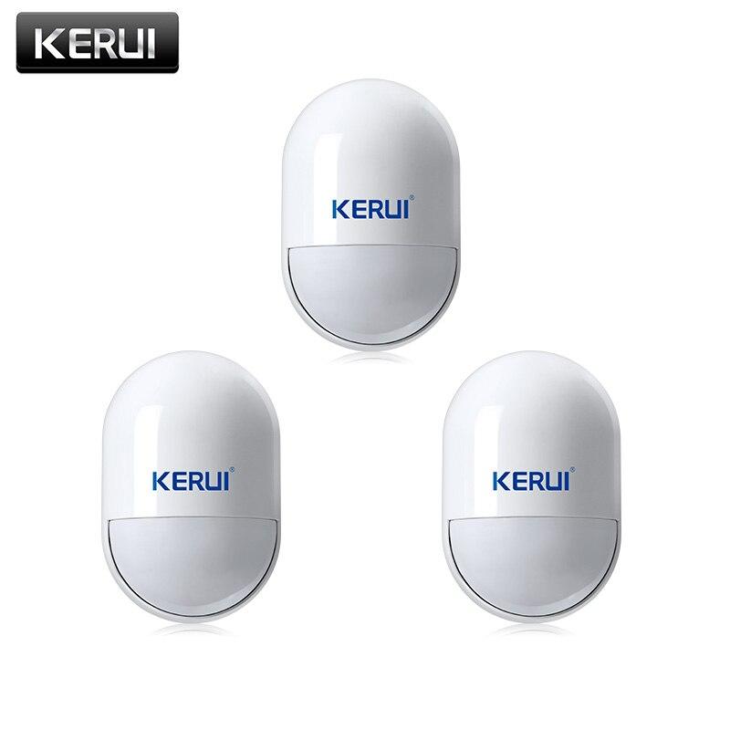 KERUI 3 pcs/lots Sans Fil PIR Mouvement Détecteur de Mouvement Capteur Pour GSM PSTN Home Security Système D'alarme Vocale