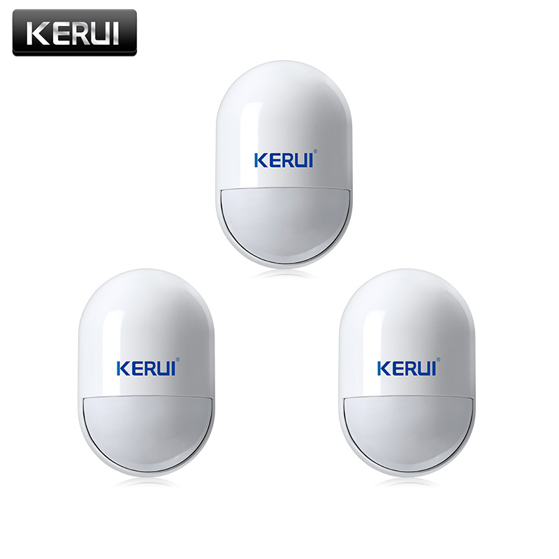 KERUI 3pcs/lots Wireless PIR Movement Motion Detector Sensor For GSM PSTN Home Security Voice Alarm System wireless vibration break breakage glass sensor detector 433mhz for alarm system