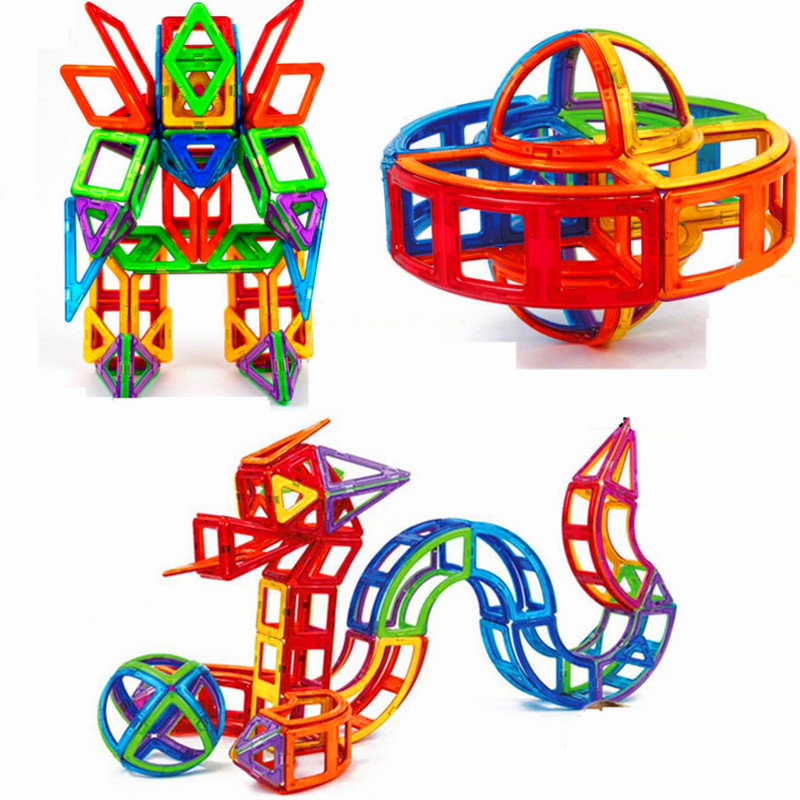 16-60PCS Mini Magnetic Blocks Educational Construction Set Models & Building Toy ABS Magnet Designer Kids Gift