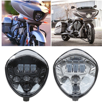 For victory motorcycles headlight Head light Led Headlamp Hi/Lo High Low Lamp 6500k For victory cross country motorcycle