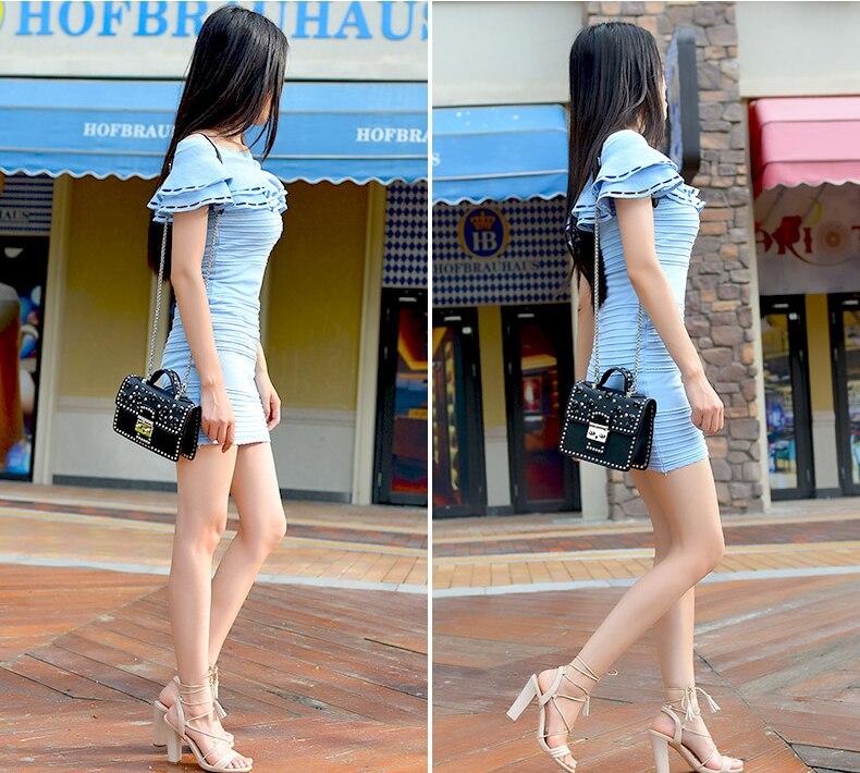 Mode femmes Messenger sac nouvelle marque en cuir véritable femme sac à bandoulière de luxe diamant femme sacs à main sangle sacs blanc - 4
