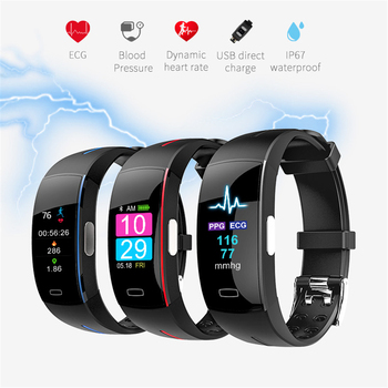 H66 Pl Blood Pressure Smart Band Heart Rate Monitor PPG ECG Smart Bracelet P3 plus Activit fitness Tracker Intelligent Wristband 2