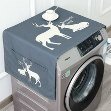 Grace Linen Washing Machine Cover Refrigerator Dust Cover Automatic Washing Machine Covers Home Organization and Storage