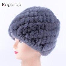 f8adf1e1faf84 Raglaido de piel de conejo sombrero ruso de piel Real de tapa buen invierno  cálido sombrero