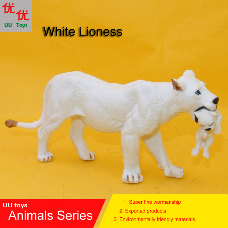 Simulation-Model Kids Toys Animals Hot-Toys:white Children with Baby Educational-Props