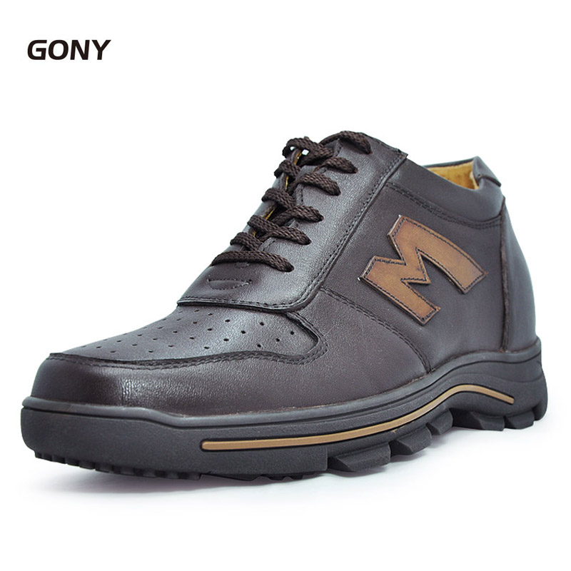 Comfortable Calf Leather Height Increasing Elevator Shoes Make Mens Taller 8CM Instantly with Height Increase Insole SZ37-45