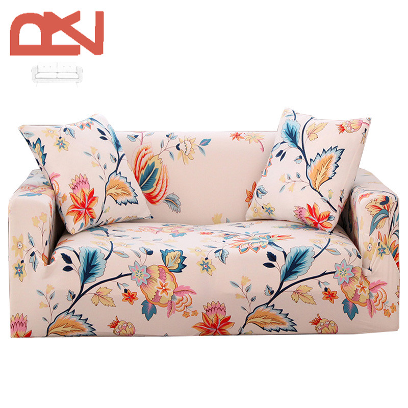Stretch Furniture Covers Colorful European Soft Fabric Elastic Corner Couch  Living Room Universal Covers Protector Sofa