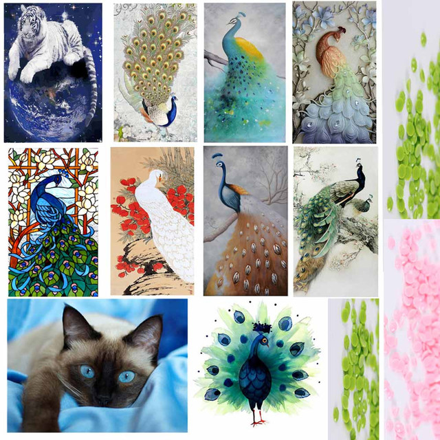 Peacock 5D Embroidery Painting Rhinestone Pasted DIY Diamond painting Cross Stitch Animal diamond mosaic Room Decor Passaros #