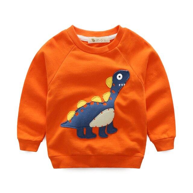 Baby Boys Girls Terry Sweatshirt Dinosaur Design Coat Toddler Boys Terry Cloth Girls Cotton hoodies Cartoon Cute T shirt Jacket