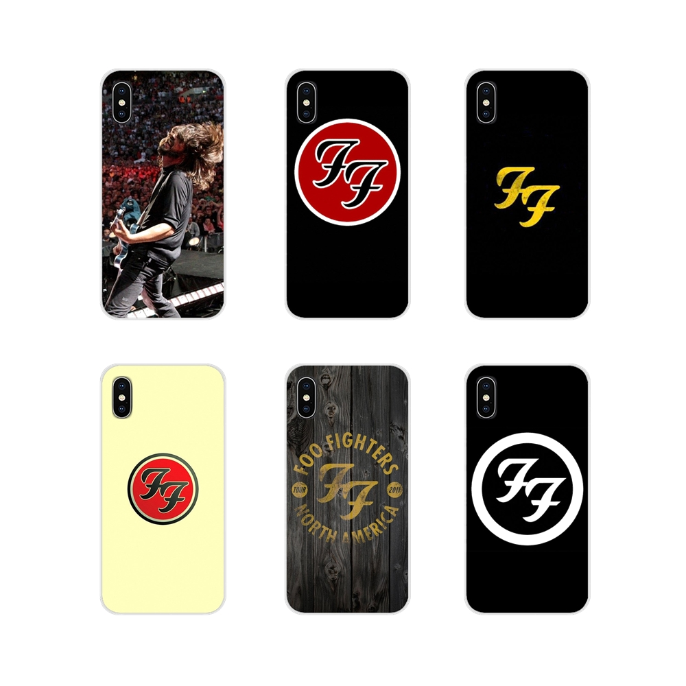 For Apple iPhone X XR XS MAX 4 4S 5 5S 5C SE 6 6S 7 8 Plus ipod touch 5 6 famous Rock Band FOO FIGHTERS Transparent TPU Bag Case image