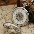 WINNER Luxury Vintage Mechanical Pocket Watch  Hollow Dial White Face W/ Box WINNER251