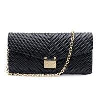 2016 New Good Leather Women Messenger Bag Chain Shoulder Bag Women Crossbody Small Bag Ladies Clutch