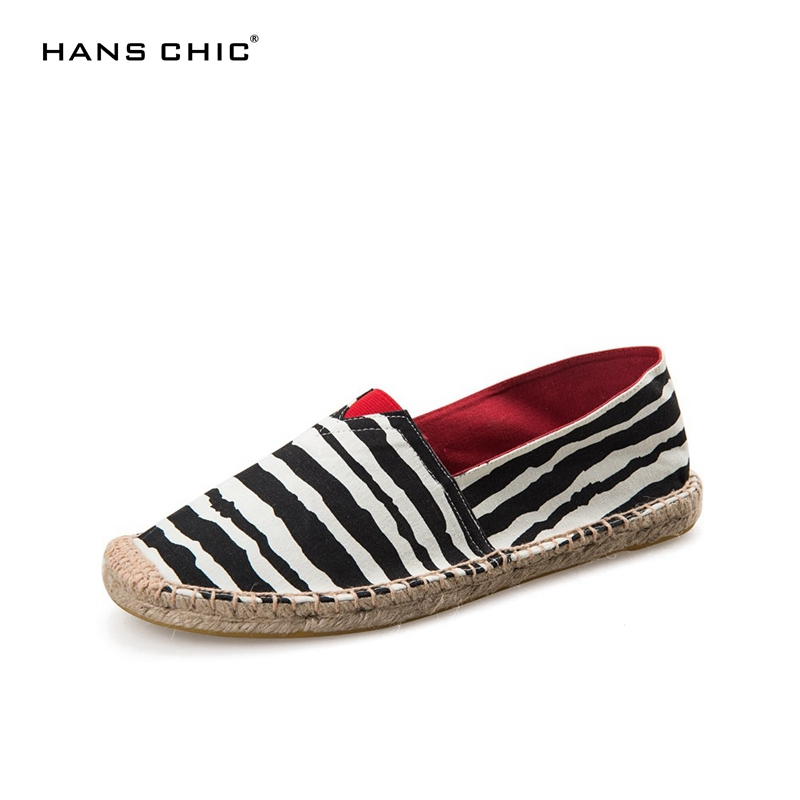 HANSCHIC 2017 New Arrival White Black Zebra Retro Striped Design Ladies Womens Casual Espadrilles Shoes for Female Unisex 101285 new sexy vs045 1 6 black and white striped sweather stockings shoes clothing set for 12 female bodys dolls