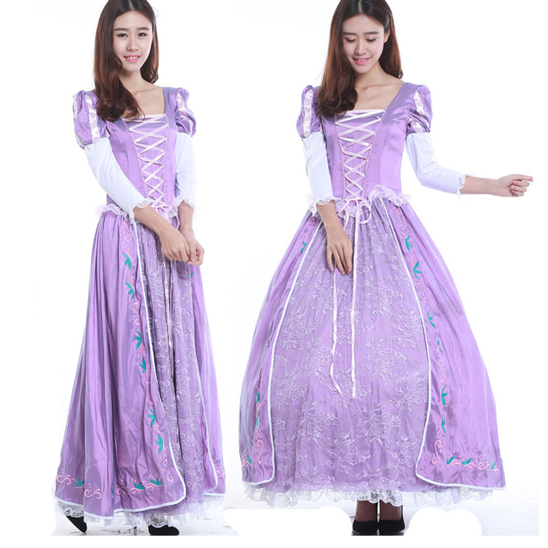 free shipping Adult Tangled Fancy Dress Anime Cosplay ...